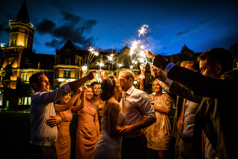 wedding sleive Donard wedding sparklers